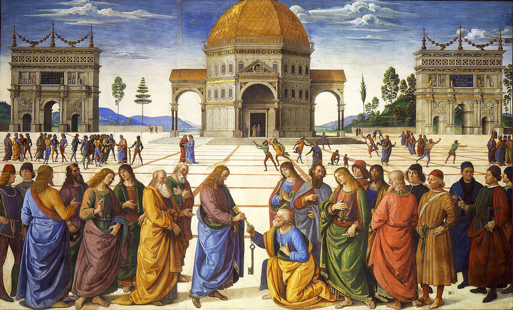 Delivery of the Keys   by Pietro Perugino (c. 1481-1482), located in the Sistine Chapel.